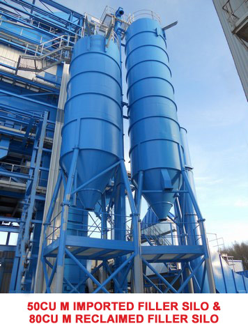 Imported Filler Silo & 80cu M Reclaimed Filler Silo